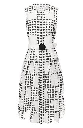 Платье с поясом Akris Punto черно-белое | Фото №1