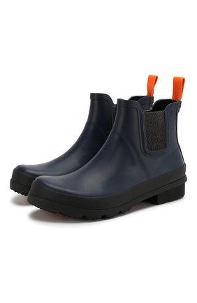 Мужские резиновые челси SWIMS синего цвета, арт. 575 | Фото 1 (Мужское Кросс-КТ: Челси-обувь, Сапоги-обувь; Статус проверки: Проверена категория; Материал внешний: Резина; Подошва: Плоская; Кросс-КТ: резиновые)