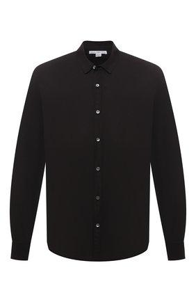 Мужская хлопковая рубашка JAMES PERSE черного цвета, арт. MLC3408 | Фото 1