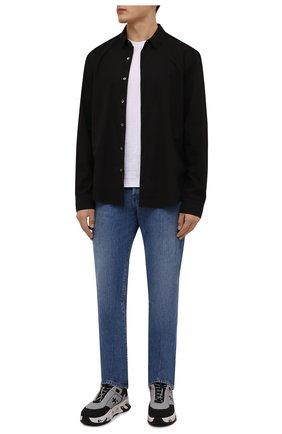 Мужская хлопковая рубашка JAMES PERSE черного цвета, арт. MLC3408 | Фото 2
