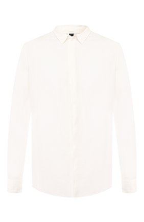 Рубашка из смеси хлопка и льна   Фото №1