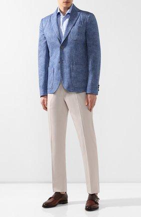 Мужская хлопковая рубашка  VAN LAACK голубого цвета, арт. TIVARA2-S-PTF/150185 | Фото 2
