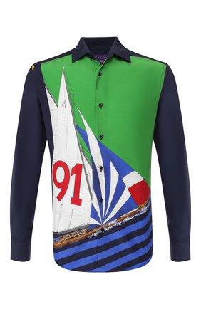 Мужская рубашка из смеси шелка и хлопка RALPH LAUREN разноцветного цвета, арт. 790741369 | Фото 1