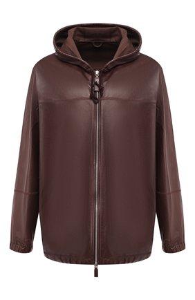 Мужской кожаная куртка BOTTEGA VENETA бордового цвета, арт. 565057/VFZG0 | Фото 1