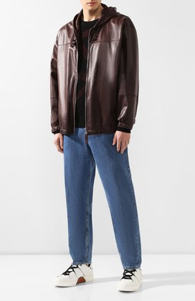 Мужской кожаная куртка BOTTEGA VENETA бордового цвета, арт. 565057/VFZG0 | Фото 2