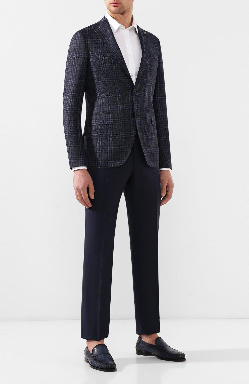 Пиджак из смеси шерсти и шелка   Фото №2
