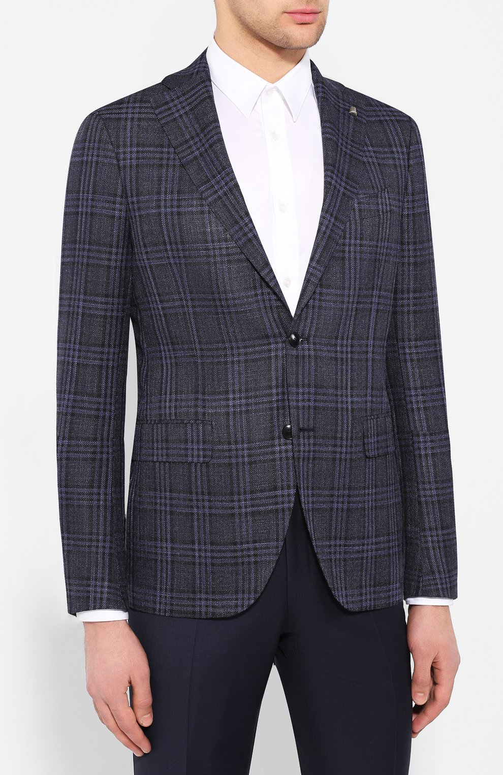 Пиджак из смеси шерсти и шелка   Фото №3