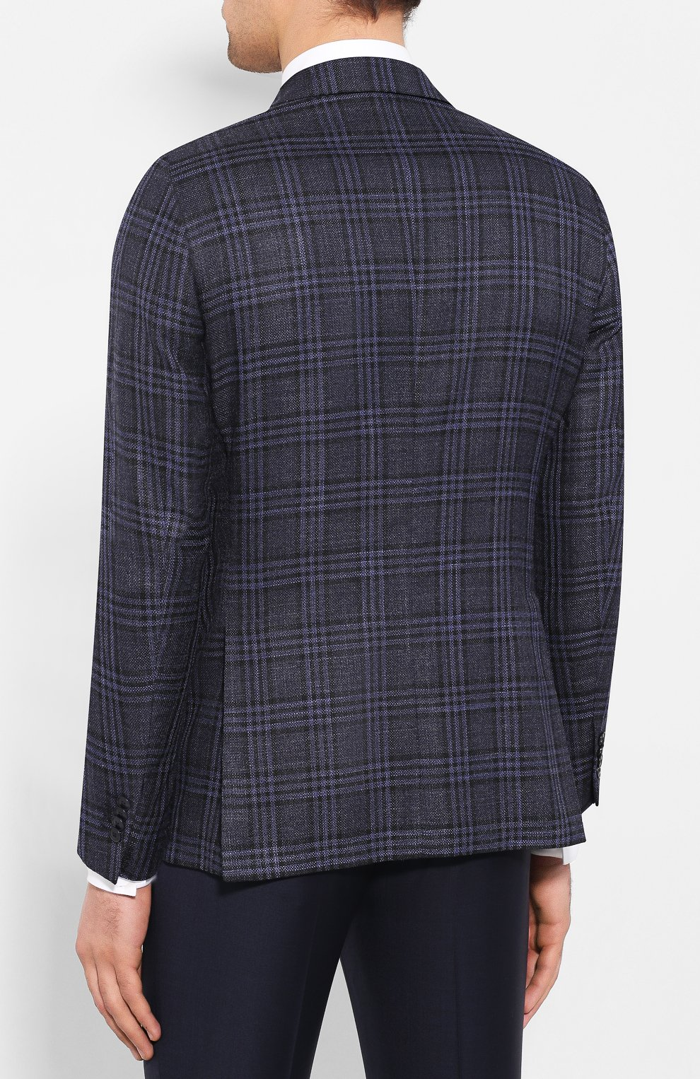 Пиджак из смеси шерсти и шелка   Фото №4