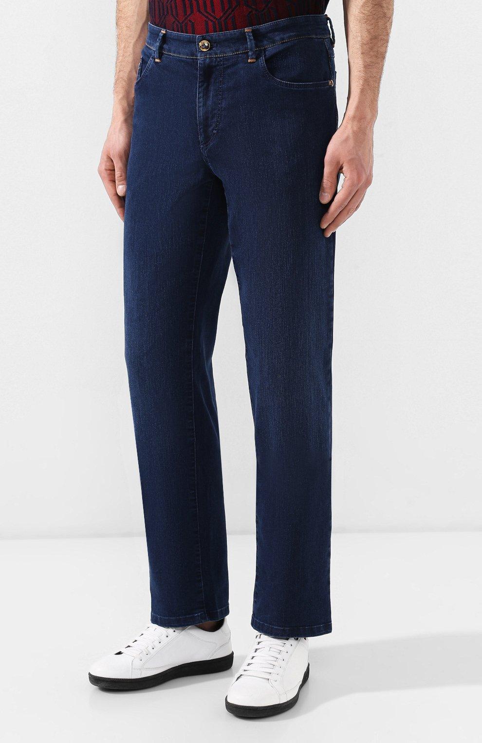 Мужские джинсы ZILLI темно-синего цвета, арт. MCR-00219-DEJA2/R001 | Фото 3
