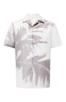 Мужская рубашка из смеси льна и хлопка BRIONI белого цвета, арт. SCAT0L/P8134   Фото 1