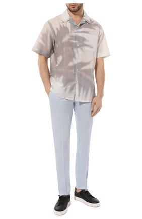 Мужская рубашка из смеси льна и хлопка BRIONI белого цвета, арт. SCAT0L/P8134   Фото 2