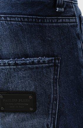 Джинсы Philipp Plein синие | Фото №5
