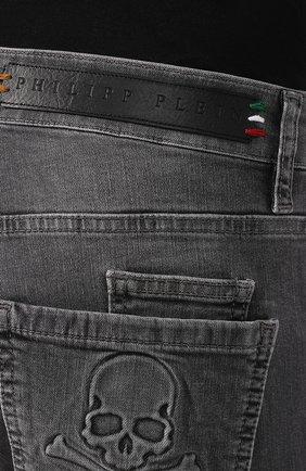 Джинсы Philipp Plein серые | Фото №5