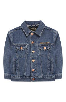 Детского джинсовая куртка MINI RODINI синего цвета, арт. 1921011060 | Фото 1