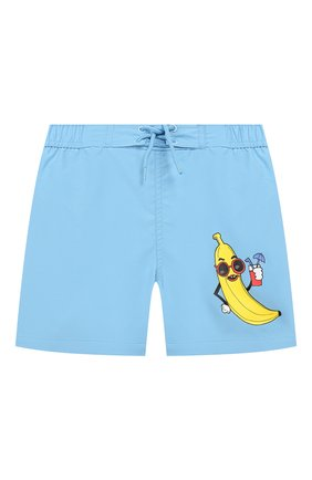 Детские плавки-шорты MINI RODINI голубого цвета, арт. 1928012750 | Фото 1