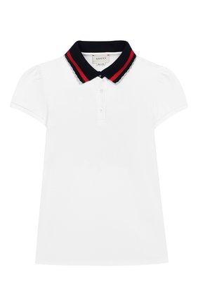 Женский хлопковое платье GUCCI белого цвета, арт. 552356/XJAM8 | Фото 1