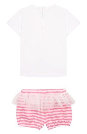 Детский комплект из хлопковой футболки и шорт IL GUFO розового цвета, арт. P19DP279M1067/12M-18M | Фото 2