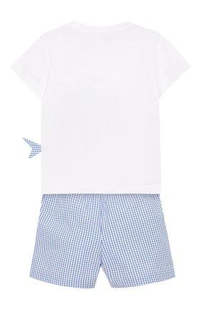 Детский комплект из хлопковой футболки и шорт IL GUFO голубого цвета, арт. P19DP285C3106/12M-18M | Фото 2