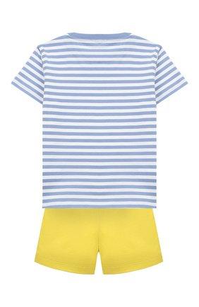 Детский комплект из хлопковой футболки и шорт IL GUFO желтого цвета, арт. P19DP289M1067/24M | Фото 2