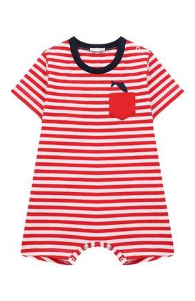 Детский хлопковый комбинезон IL GUFO красного цвета, арт. P19T0199M1067/3M-9M | Фото 1