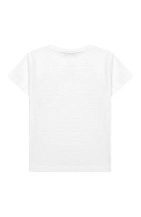 Детский хлопковая футболка IL GUFO белого цвета, арт. P19TS178M0014/12M-18M | Фото 2