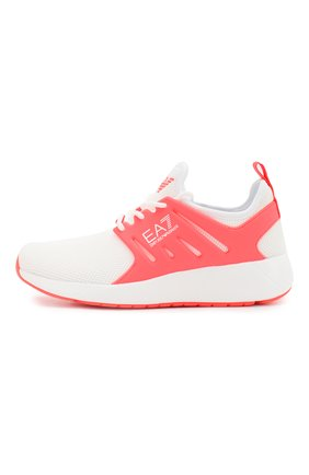 Детские текстильные кроссовки на шнуровке EA 7 кораллового цвета, арт. XSX002/X0T03 | Фото 2