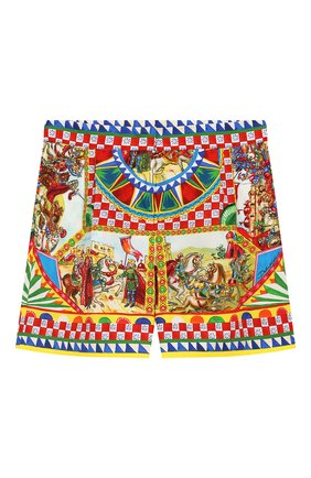 Детские хлопковые шорты DOLCE & GABBANA разноцветного цвета, арт. L52Q43/G7SLM/2-6 | Фото 1