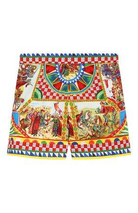Детские хлопковые шорты DOLCE & GABBANA разноцветного цвета, арт. L52Q43/G7SLM/2-6 | Фото 2