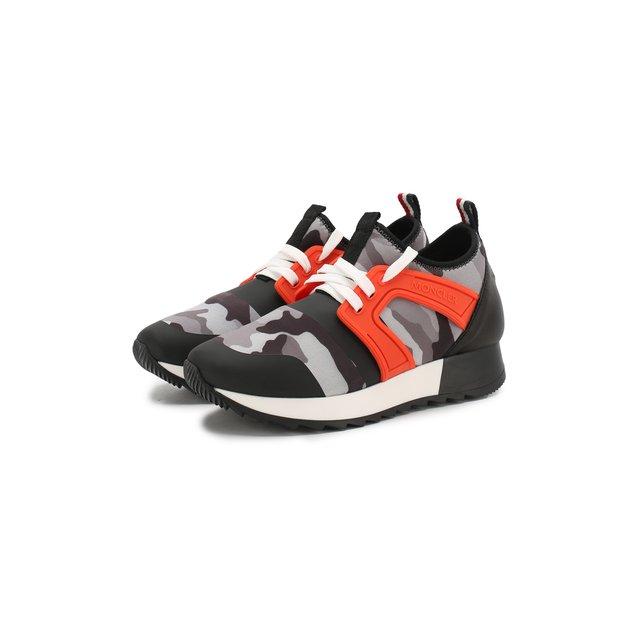 Кроссовки на шнуровке Moncler Enfant — Кроссовки на шнуровке
