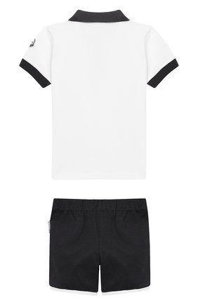 Детский комплект из хлопковой футболки и шорт MONCLER ENFANT белого цвета, арт. E1-951-88123-50-8496F | Фото 2
