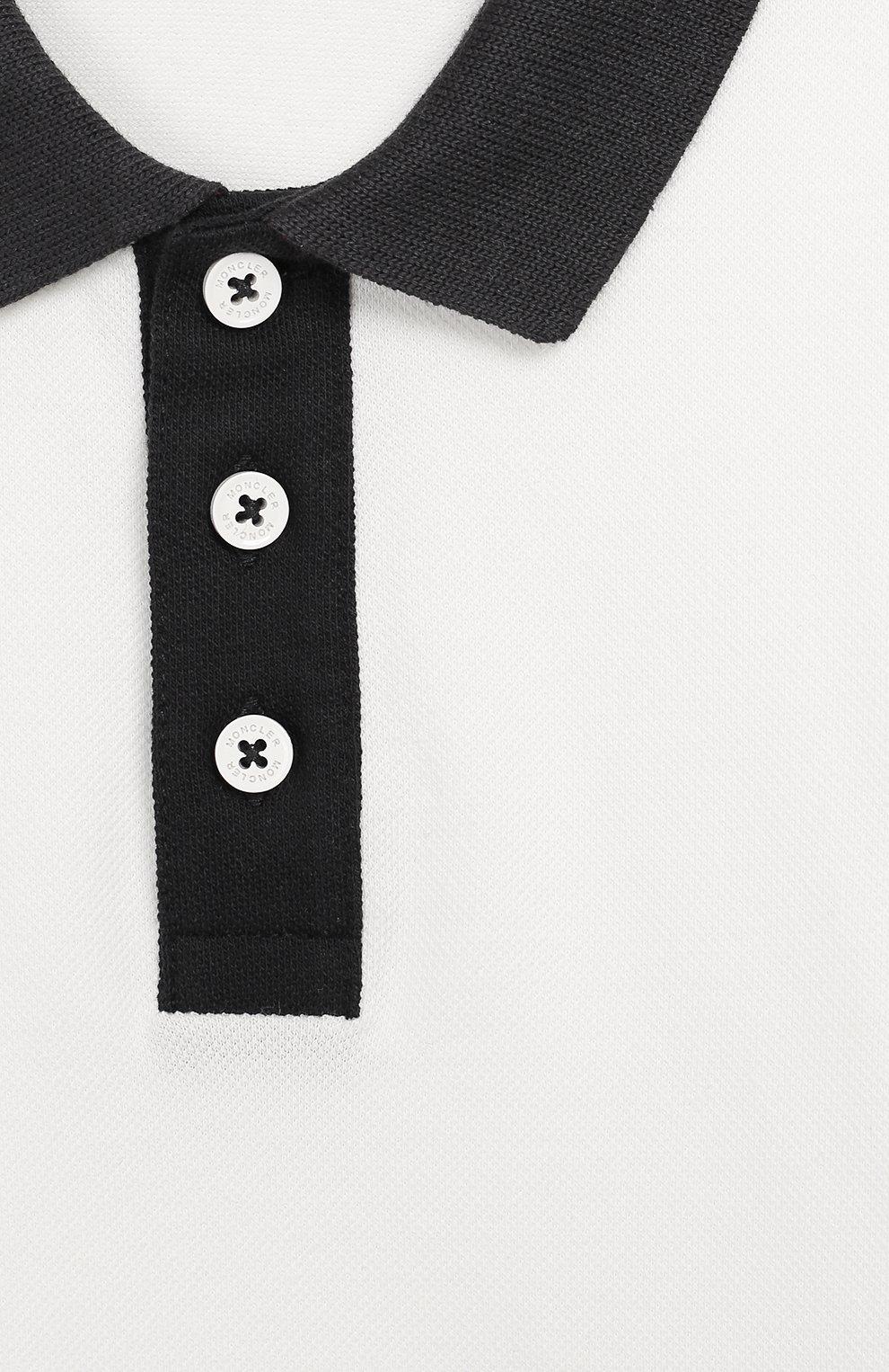 Детский комплект из хлопковой футболки и шорт MONCLER ENFANT белого цвета, арт. E1-951-88123-50-8496F | Фото 3