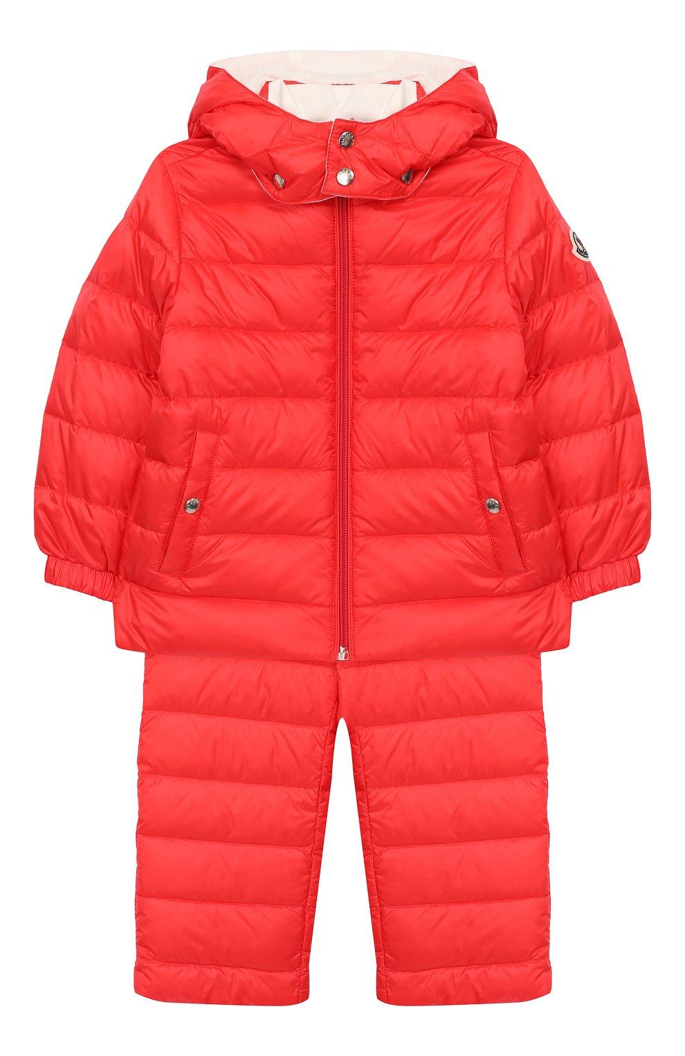 Детский комплект из куртки и комбинезона MONCLER ENFANT кораллового цвета, арт. E1-951-70340-05-53048 | Фото 1