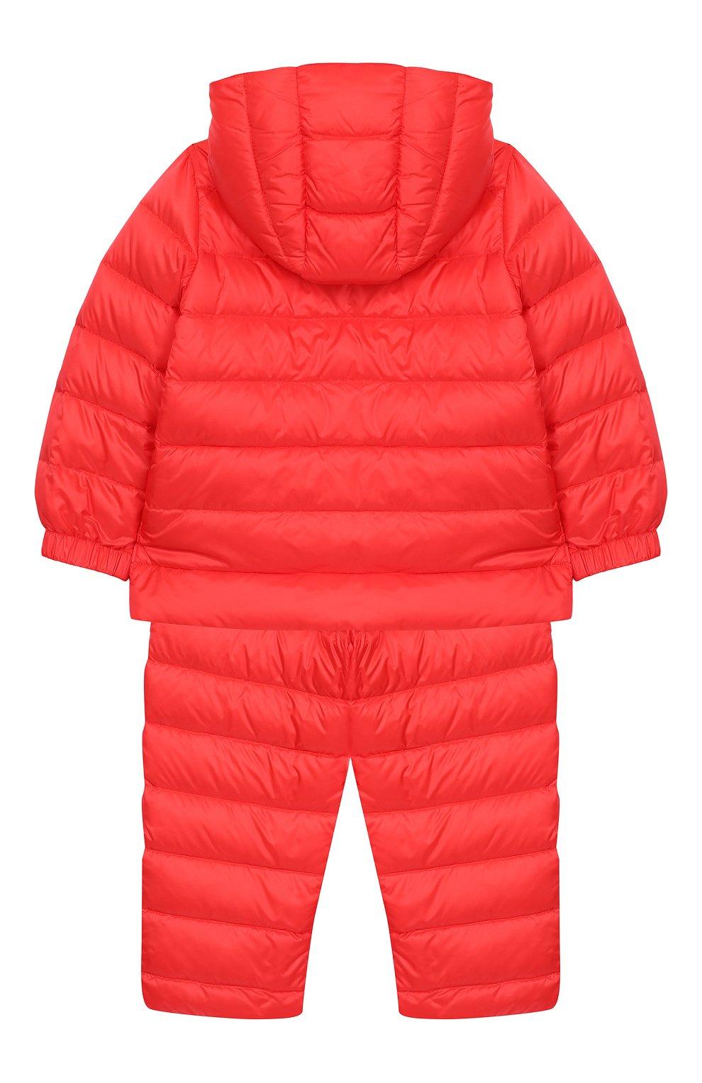 Детский комплект из куртки и комбинезона MONCLER ENFANT кораллового цвета, арт. E1-951-70340-05-53048 | Фото 2