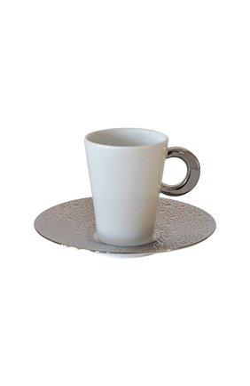 Кофейная чашка с блюдцем Ecume Silver | Фото №1