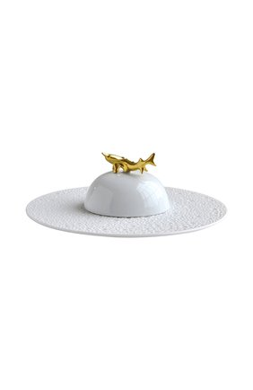 Мужского икорница ecume white BERNARDAUD белого цвета, арт. 0733/21898 | Фото 1