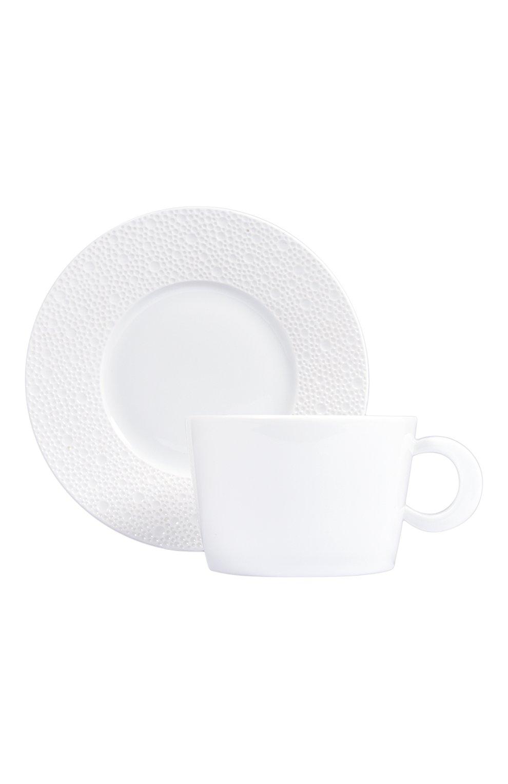 Мужского чашка для завтрака с блюдцем ecume white BERNARDAUD белого цвета, арт. 0733/83   Фото 1
