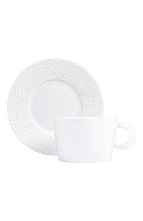 Чашка для завтрака с блюдцем Ecume White | Фото №1