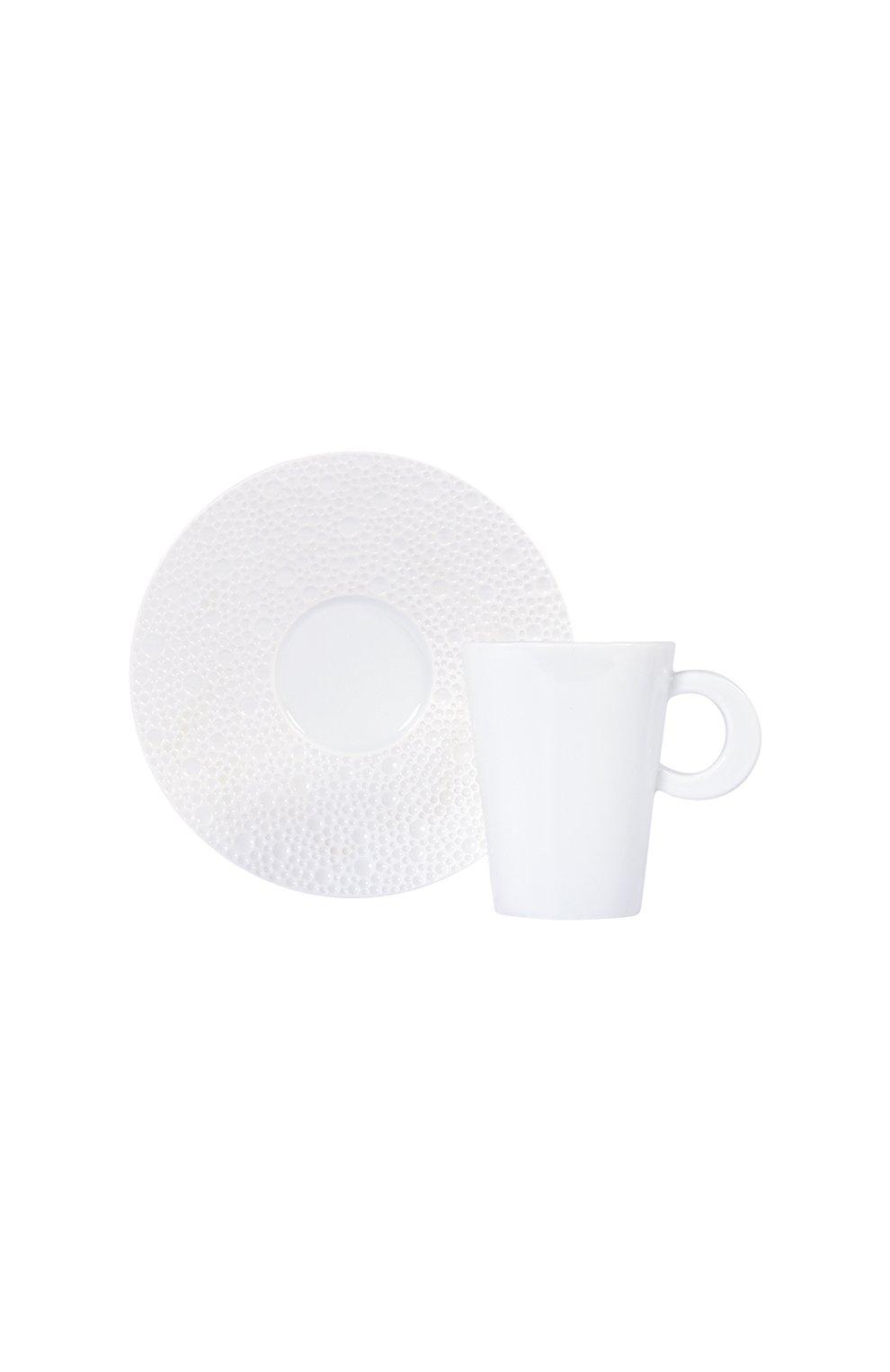 Мужского кофейная чашка с блюдцем ecume white BERNARDAUD белого цвета, арт. 0733/20451 | Фото 1
