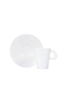 Кофейная чашка с блюдцем Ecume White | Фото №1