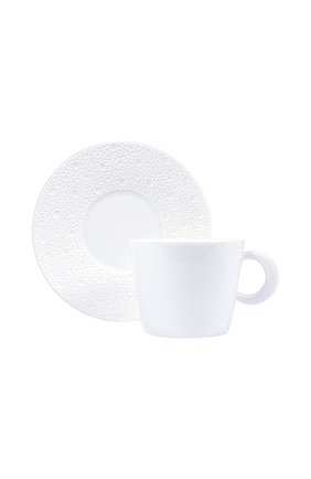 Чайная чашка с блюдцем Ecume White | Фото №1