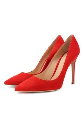 Женская замшевые туфли gianvito 105 GIANVITO ROSSI красного цвета, арт. G28470.15RIC.CAM | Фото 1