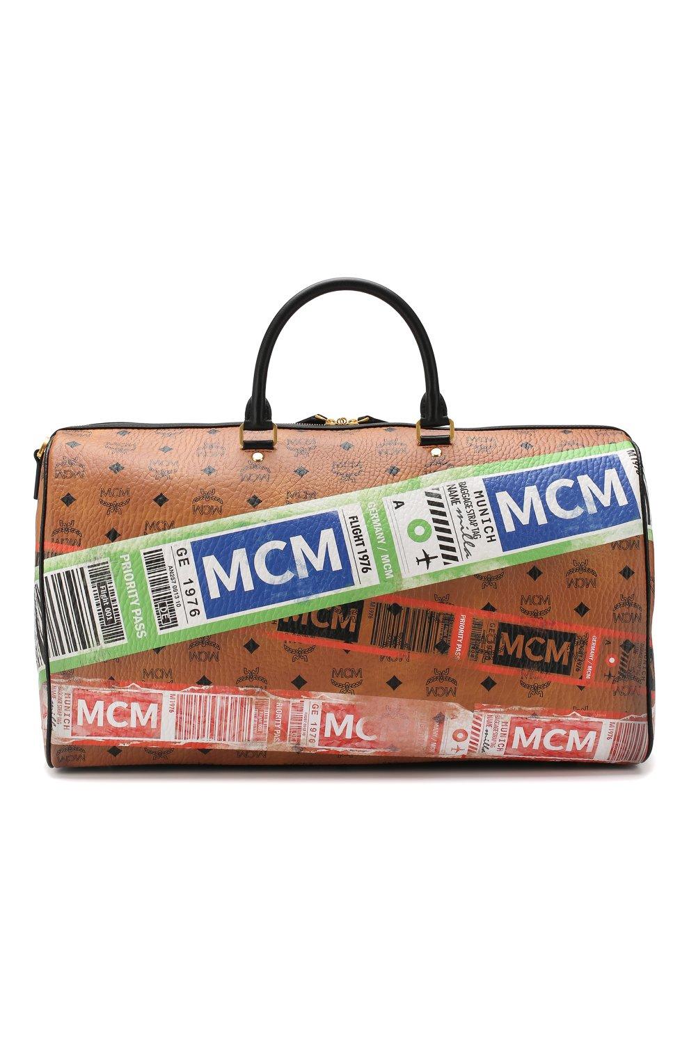Женская дорожная сумка traveler MCM коричневого цвета, арт. MUV 9SVY12 | Фото 1