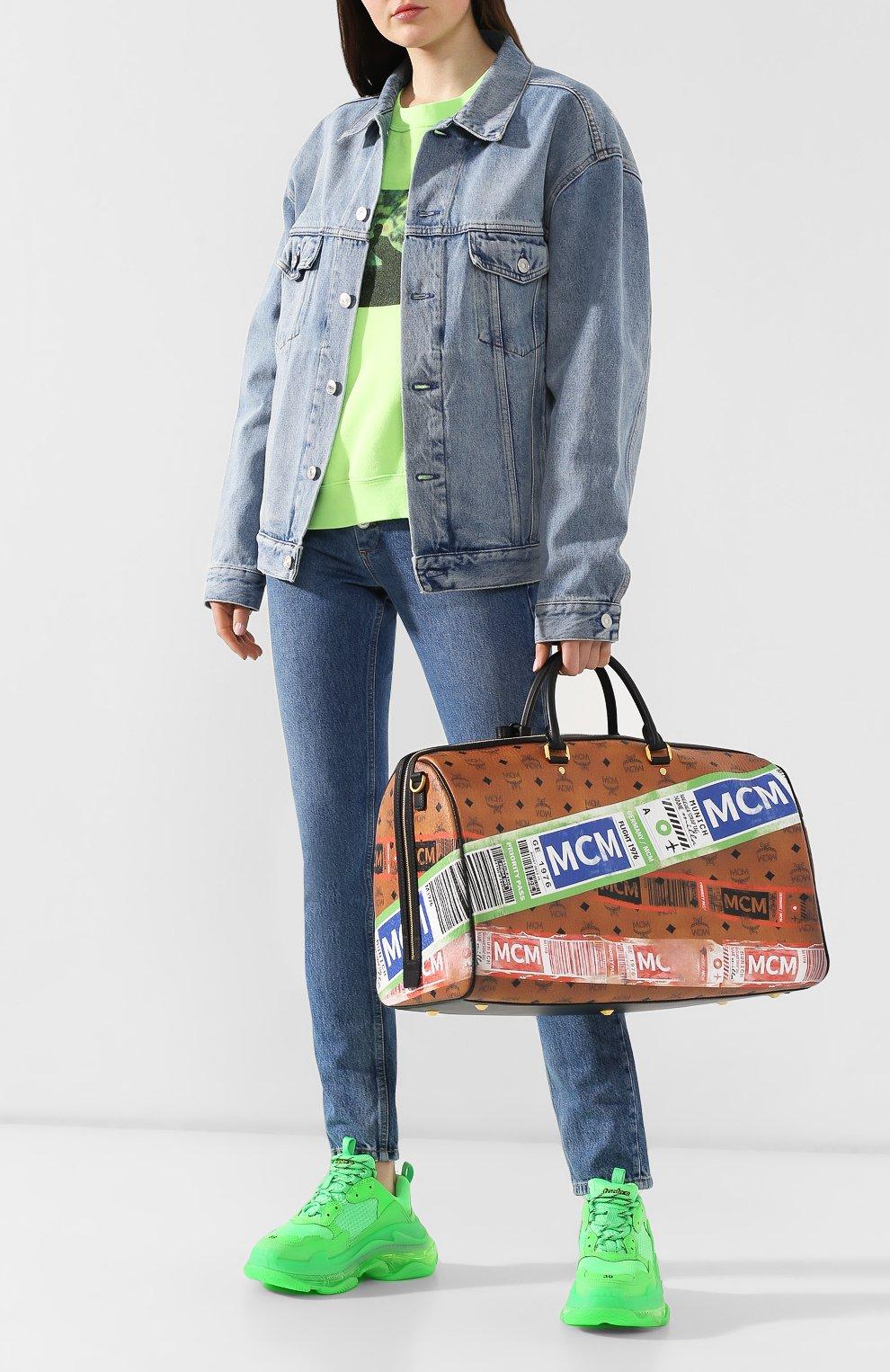 Женская дорожная сумка traveler MCM коричневого цвета, арт. MUV 9SVY12 | Фото 2