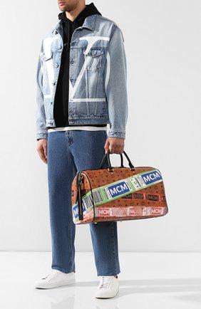 Женская дорожная сумка traveler MCM коричневого цвета, арт. MUV 9SVY12 | Фото 3