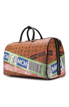 Женская дорожная сумка traveler MCM коричневого цвета, арт. MUV 9SVY12 | Фото 4