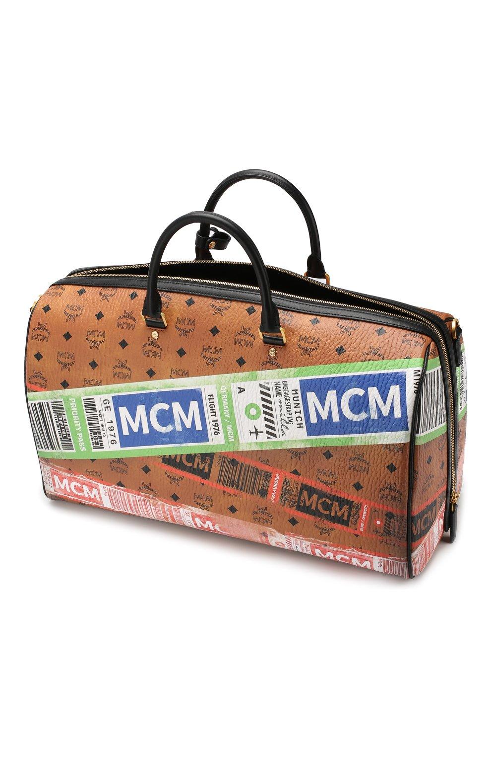 Женская дорожная сумка traveler MCM коричневого цвета, арт. MUV 9SVY12 | Фото 5