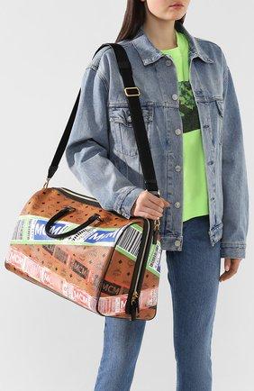 Женская дорожная сумка traveler MCM коричневого цвета, арт. MUV 9SVY12 | Фото 6