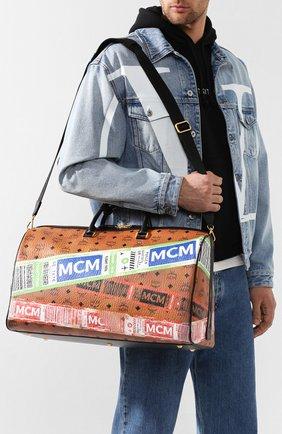 Женская дорожная сумка traveler MCM коричневого цвета, арт. MUV 9SVY12 | Фото 7
