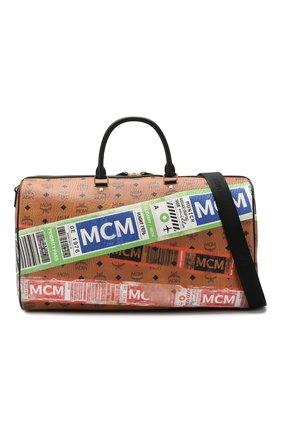 Женская дорожная сумка traveler MCM коричневого цвета, арт. MUV 9SVY12 | Фото 8