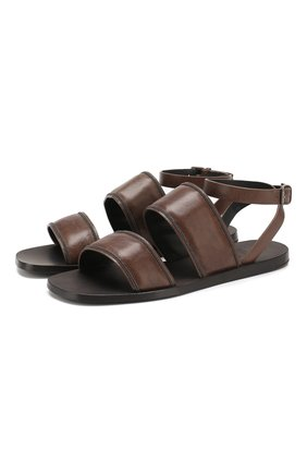 Женские кожаные сандалии BRUNELLO CUCINELLI коричневого цвета, арт. MZSEC1449 | Фото 1